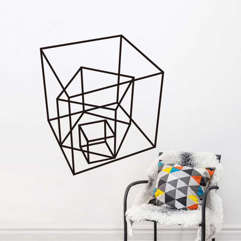 Geometric Cubes Removable Wall Sticker