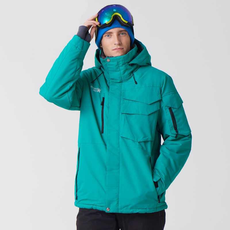Men Bright Color Waterproof Winter Jacket