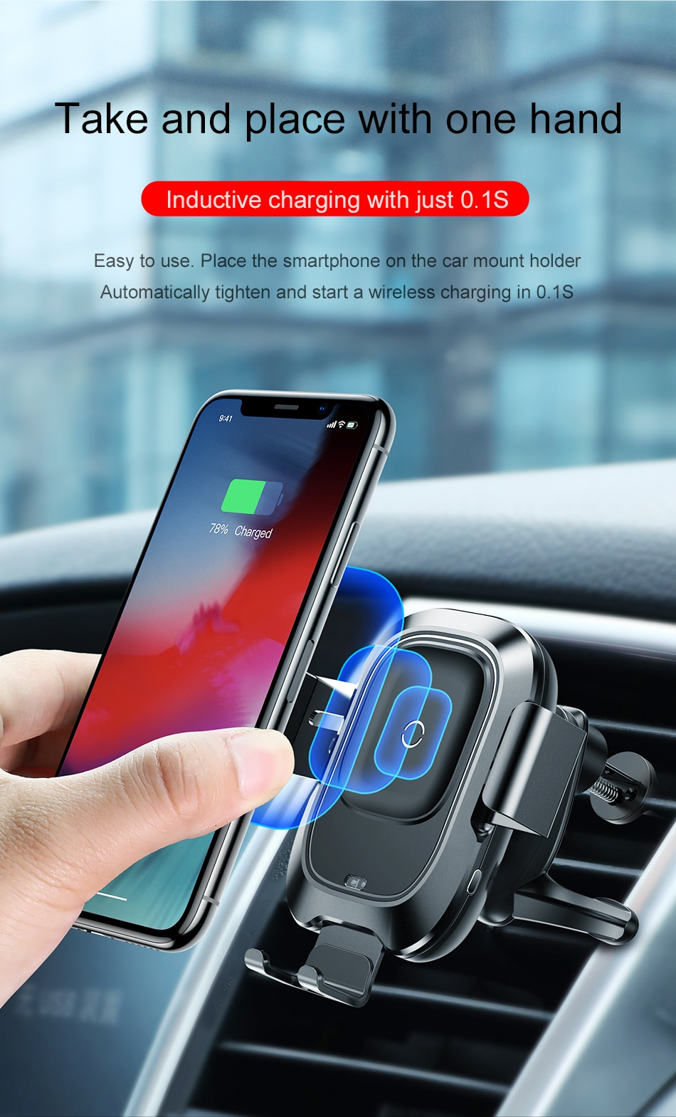 Wireless Charger Phone Holder For iPhone And Samsung