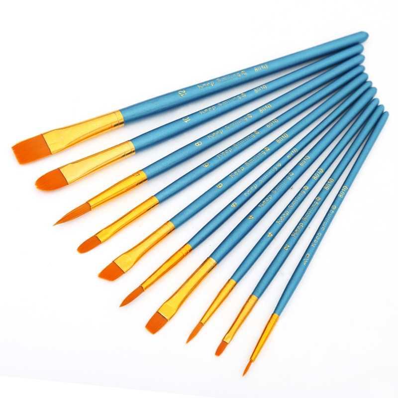 10Pcs/Set Gouache Paint Brushes