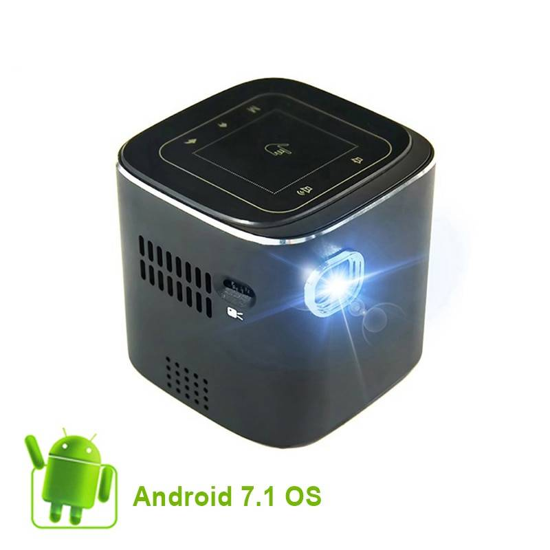Everycome D019 Mini Projector Support Full HD 1920x 1080P DLP Portable Android 7.1.2 OS Wifi Bluetooth LED Battery Home Beamer