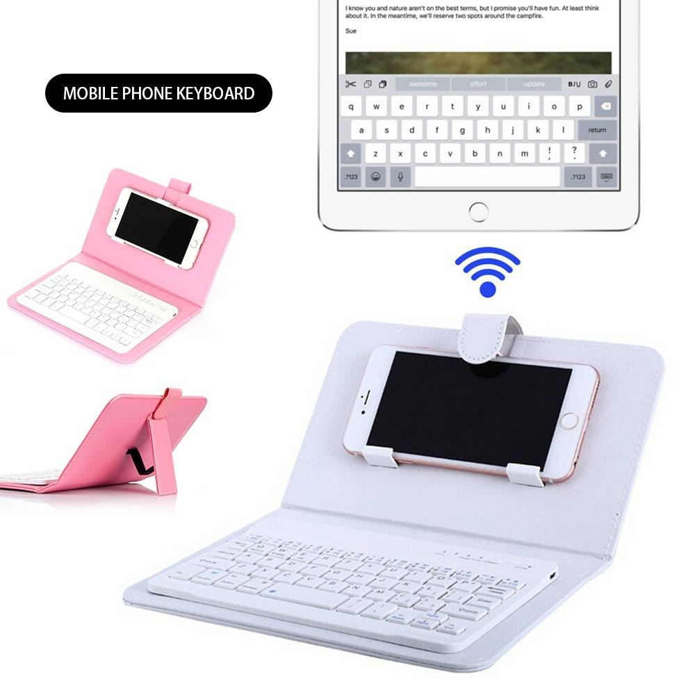 Portable Bluetooth Phone Keyboard Cover