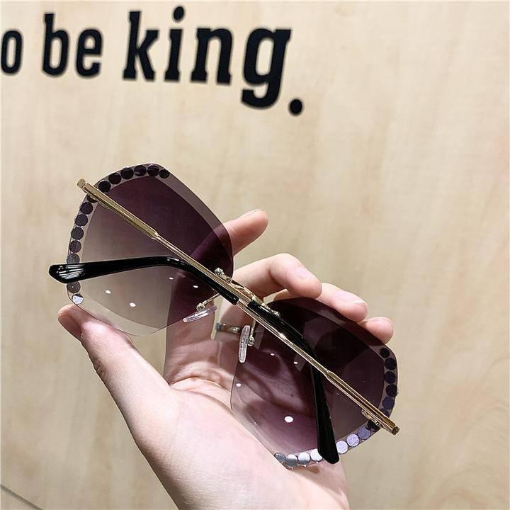 Luxury Vintage Crystal Sunglasses