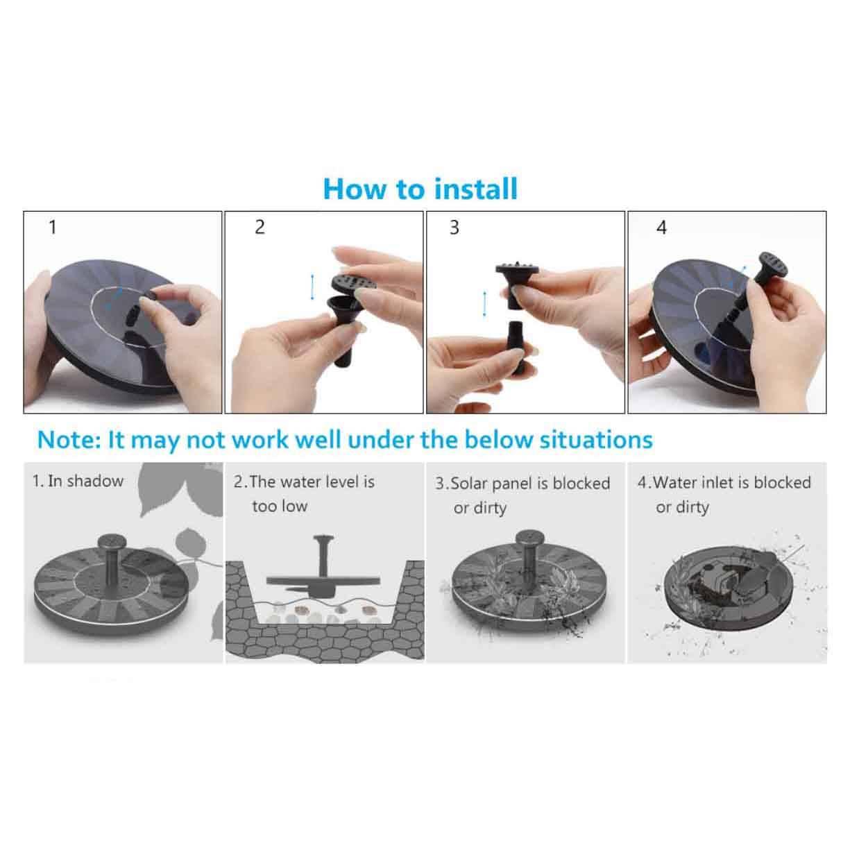 Portable Solar Power Fountain - SPECIAL OFFER