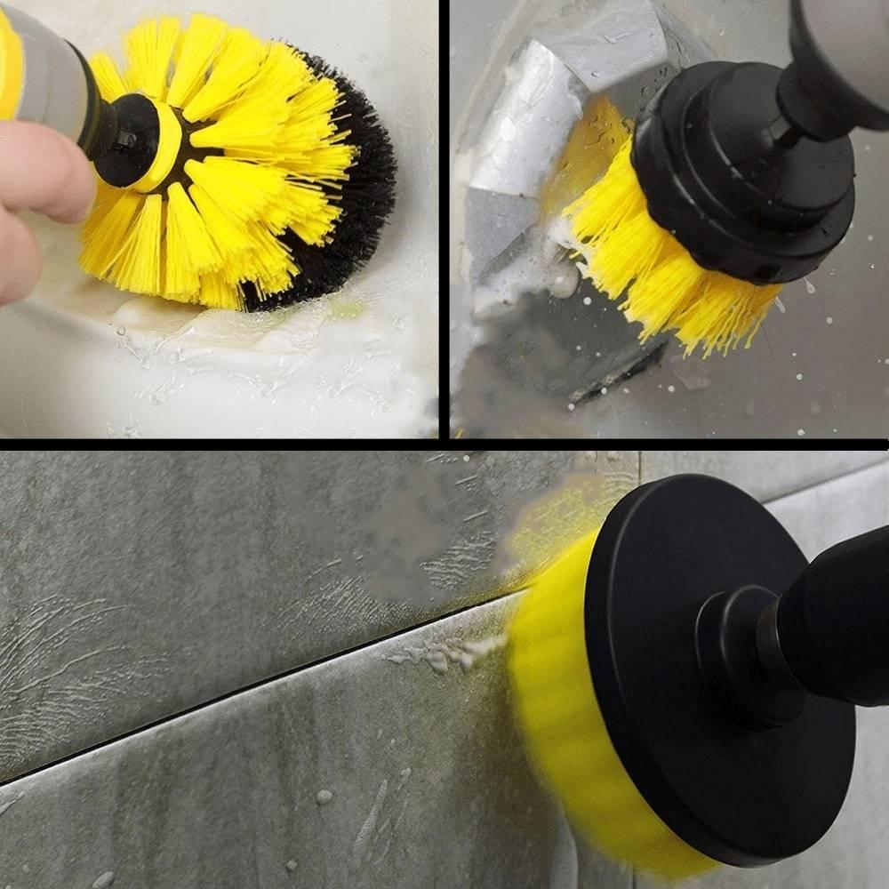 Drill Scrubber Brush Kit