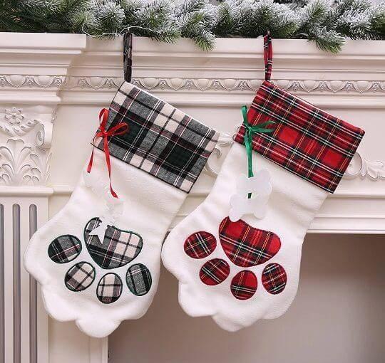 Paw Shaped Christmas Stocking