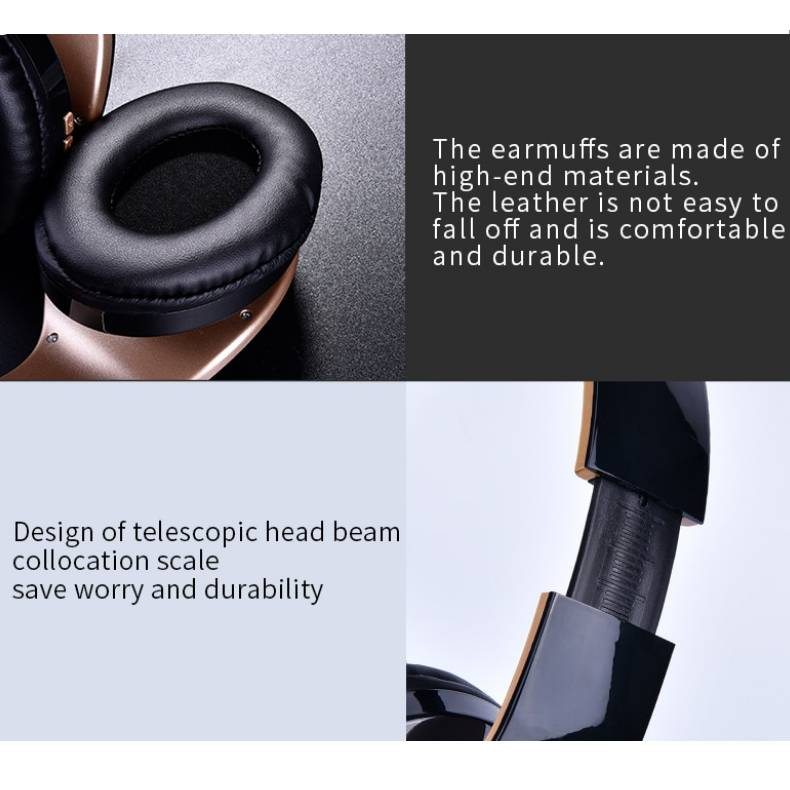 Wireless Foldable Gaming Headphones