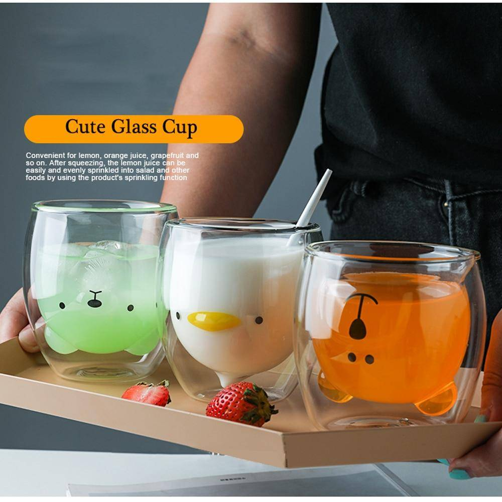 Double Layer Glass Mug