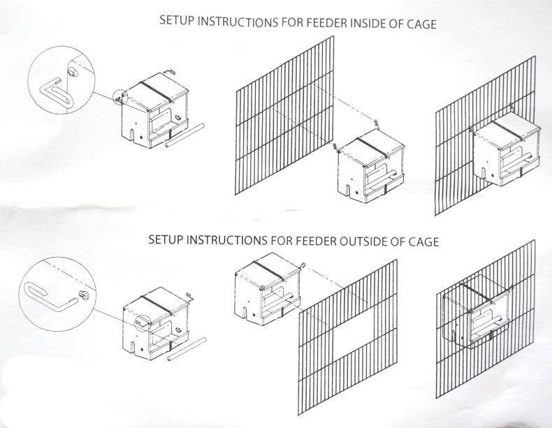 Automatic Bird Feeder For Cage